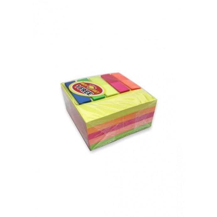 Cubo 400 notas adhesivas colores...