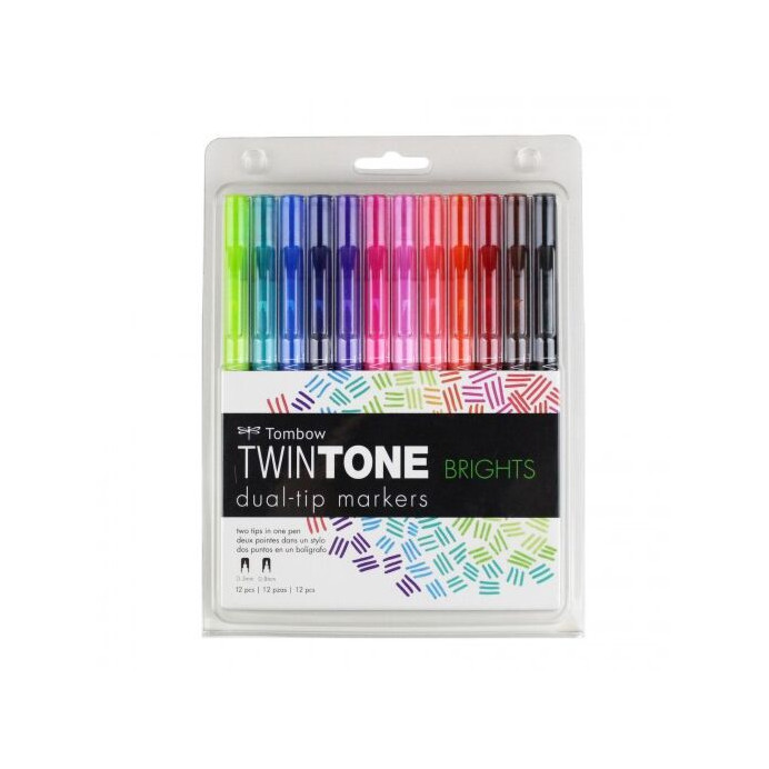 SET TOMBOW TWINTONE BRIGHTS
